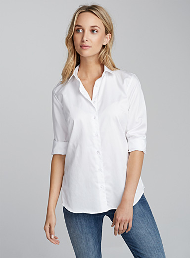 Essential satiny cotton shirt