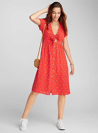 Polka dot tie dress
