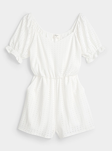 Geometric broderie anglaise romper