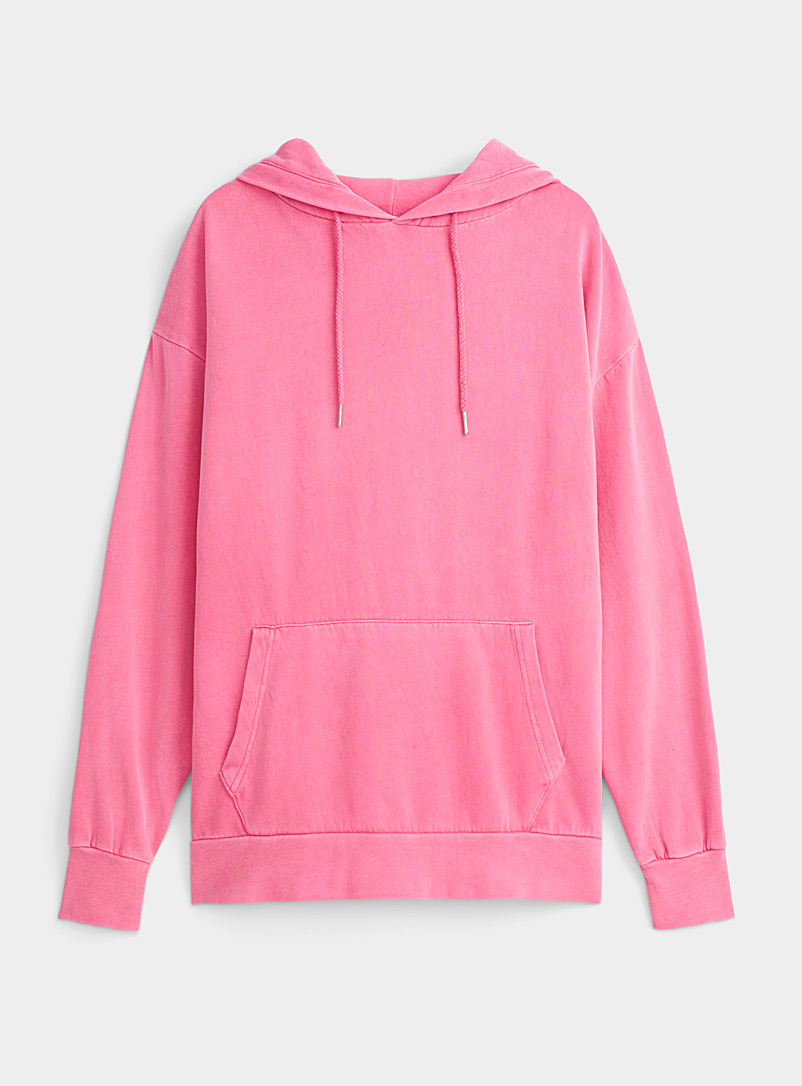Twik Cherry Red Faded ultra-loose hoodie for women