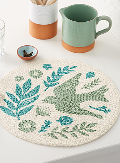Meadowlark braided place mat