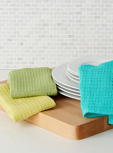 Bright waffled dishcloths  Set of 3