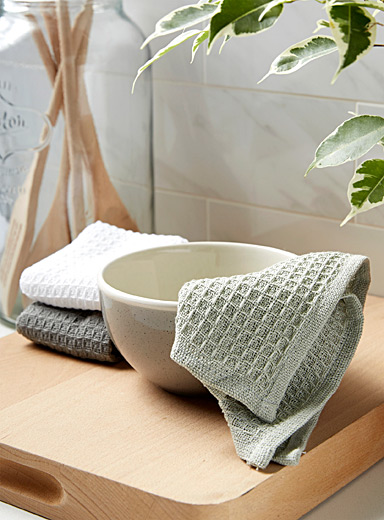 Waffled dishcloths  Set of 3