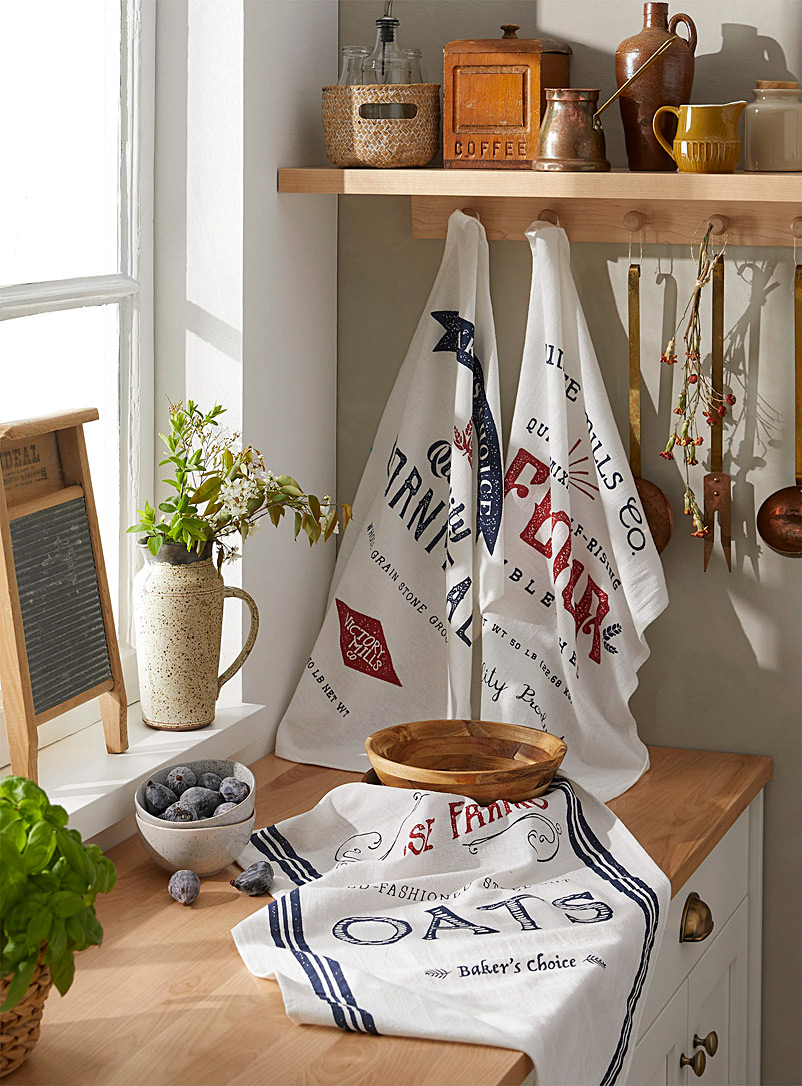 Dry goods floursack tea towels  Set of 3