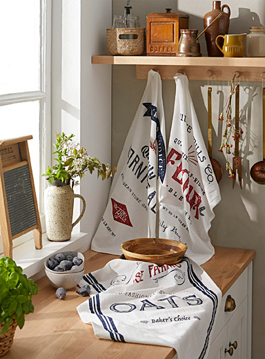 Dry goods floursack tea towels <br>Set of 3