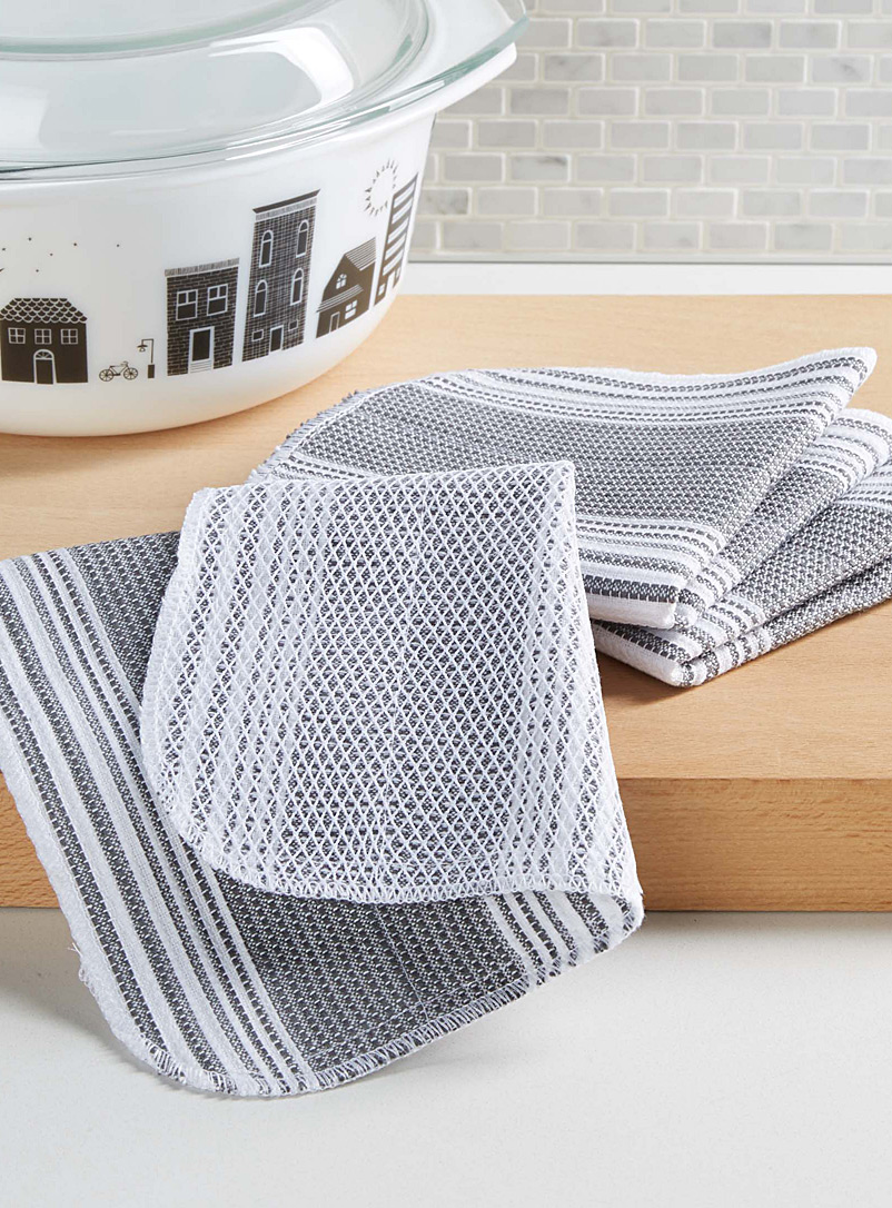 Mesh-back all-purpose towels  Set of 3 - Kitchen Linens