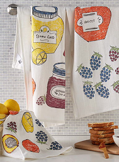 Grandma's jam flour-sack tea towels  Set of 3