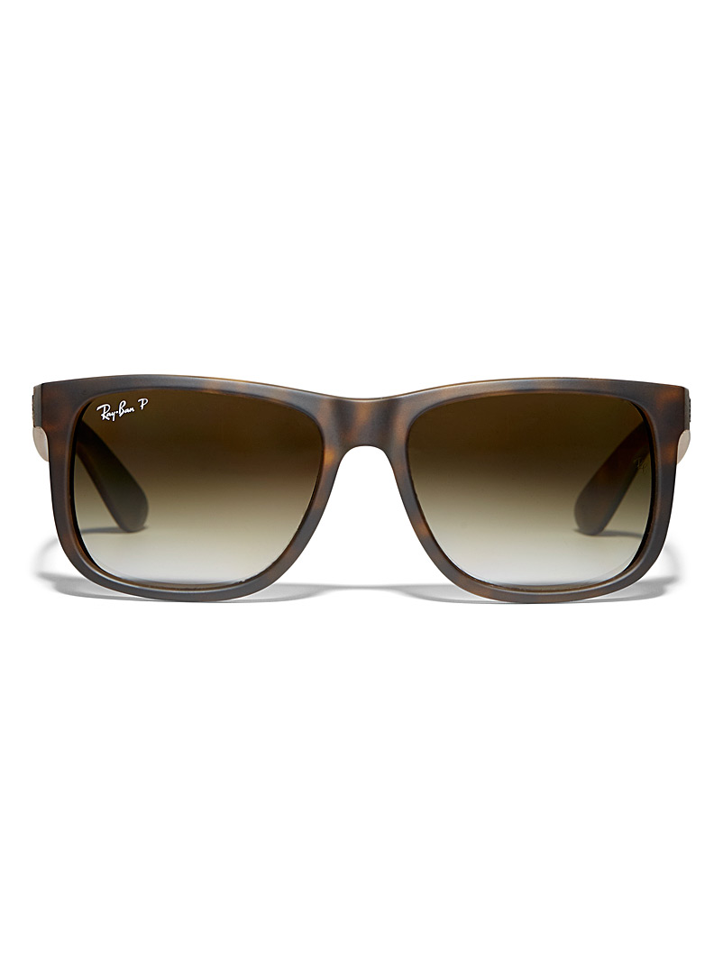 Ray-Ban Patterned Brown Justin Classic sunglasses for men