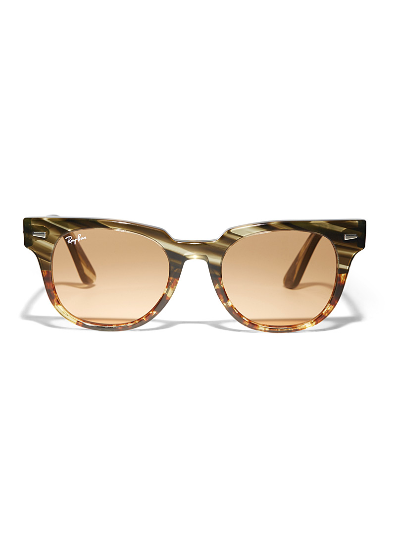 Meteor two-tone sunglasses - Designer - Patterned Green