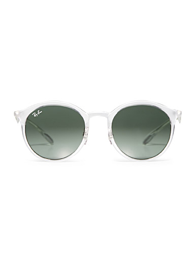 Emma transparent frame round sunglasses