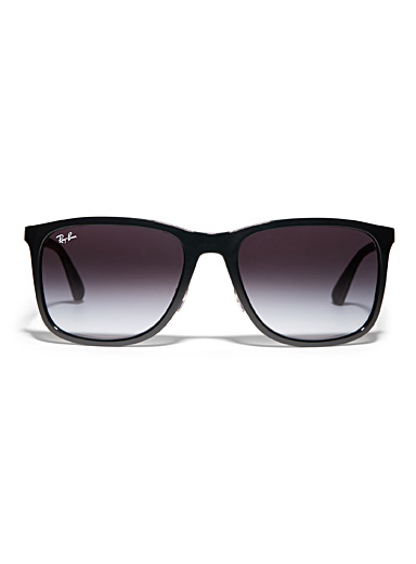 Sporty rectangular sunglasses