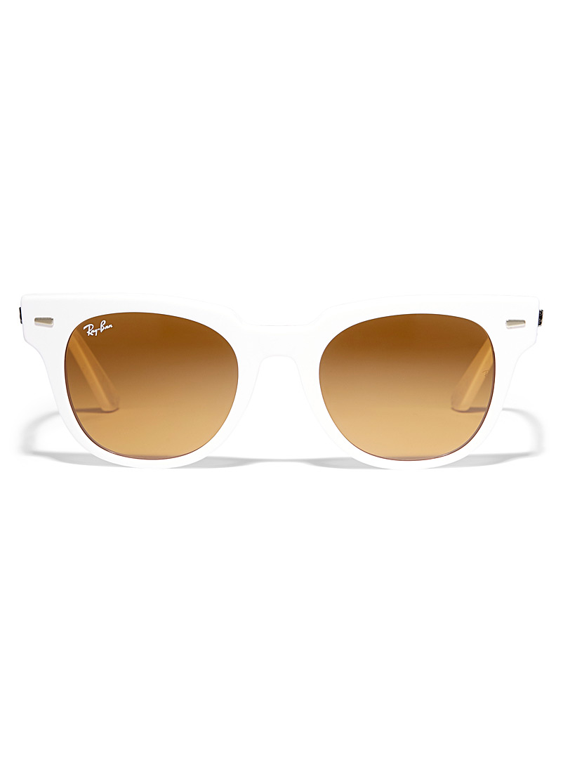 Ray-Ban White Meteor classic sunglasses for men