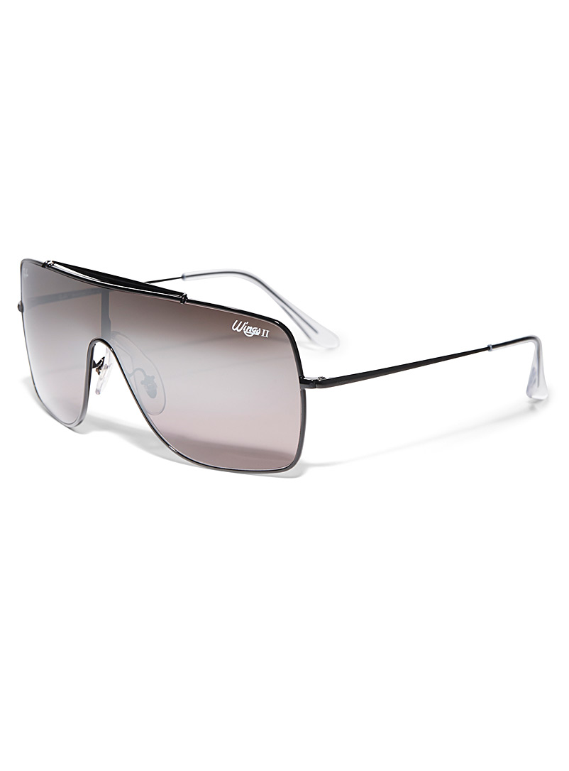 Ray-Ban Black Wings II visor sunglasses for men