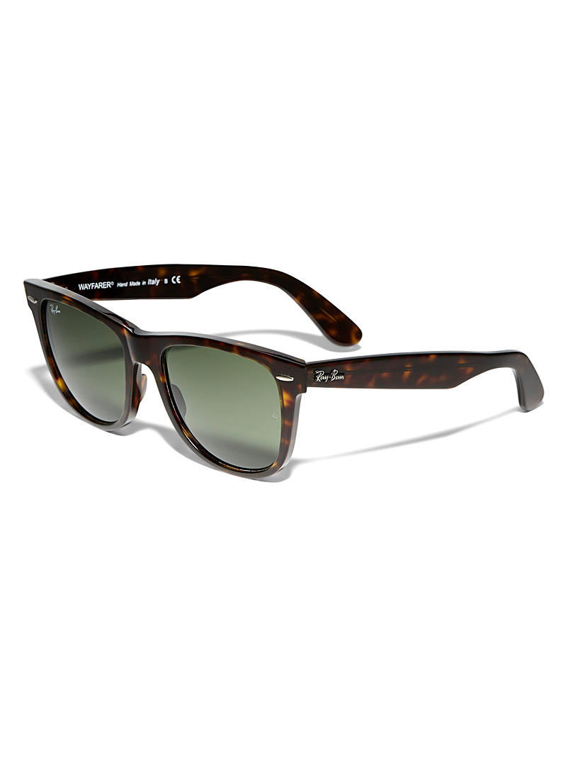 Authentic Wayfarer sunglasses - Retro - Patterned Brown