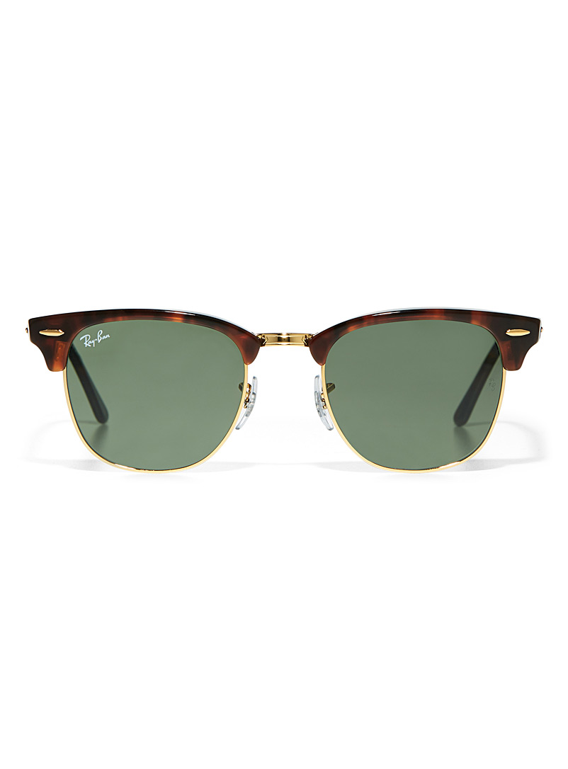 Ray-Ban Light Brown Clubmaster sunglasses for women