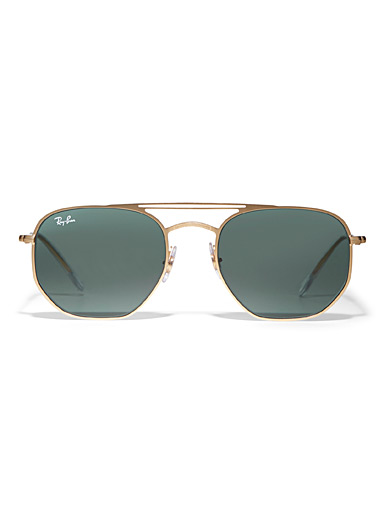 Angular aviator sunglasses