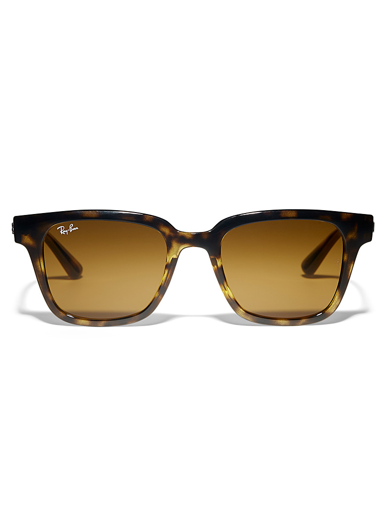 Ray-Ban Light Brown Wayfarer-style square sunglasses for women