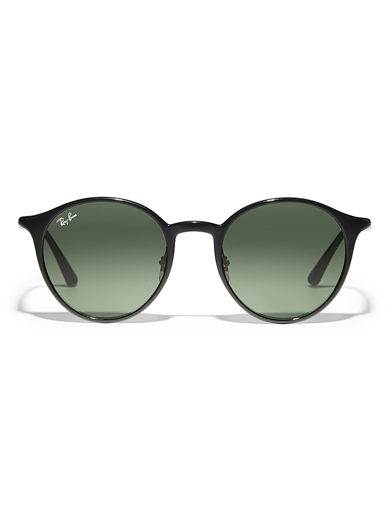 Ray-Ban Black Chromance round sunglasses for women