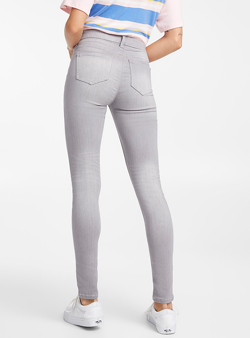 Extra stretch skinny jean - Regular Waist - Grey