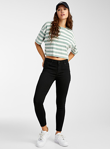 Extra stretch black skinny jean