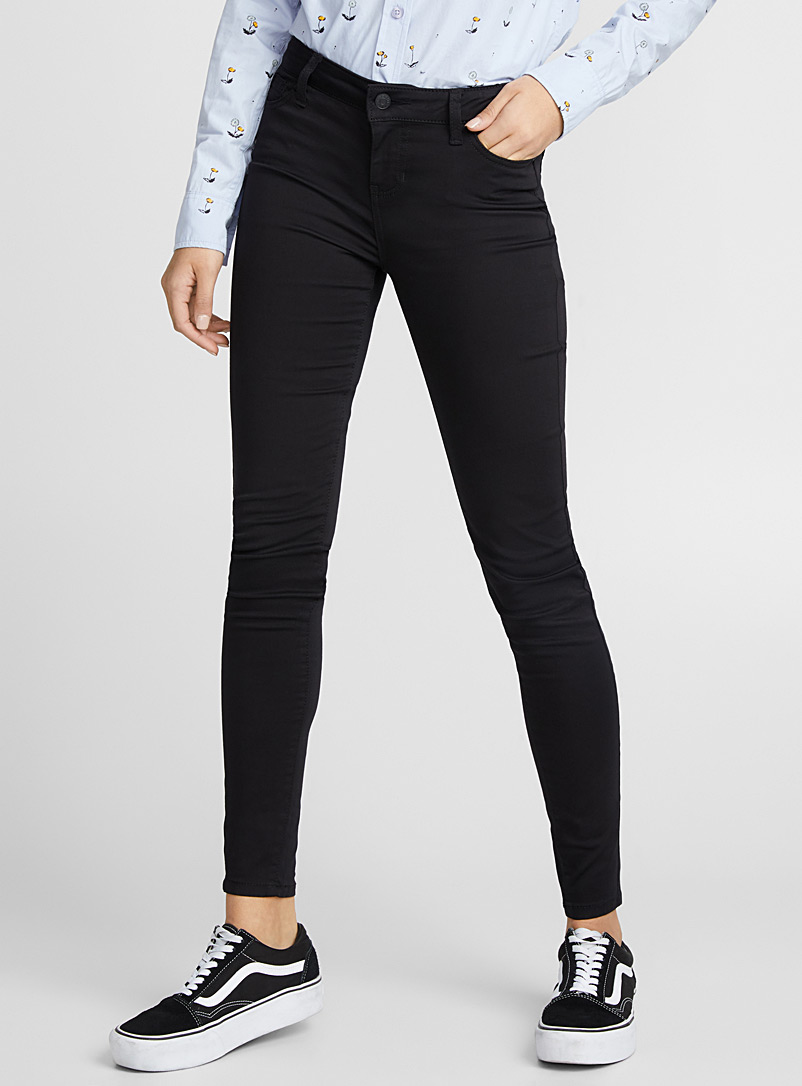 Extra stretch coloured jean - Skinny - Black