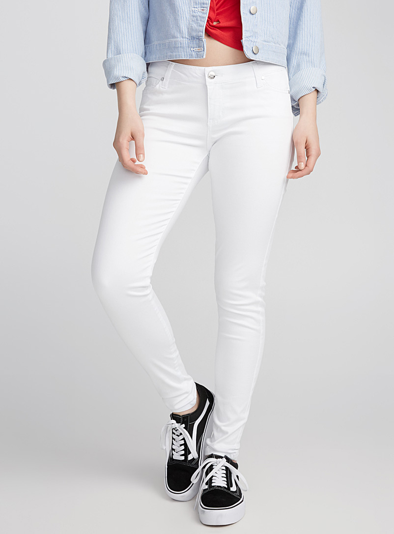 Extra stretch coloured jean - Slim - Patterned White