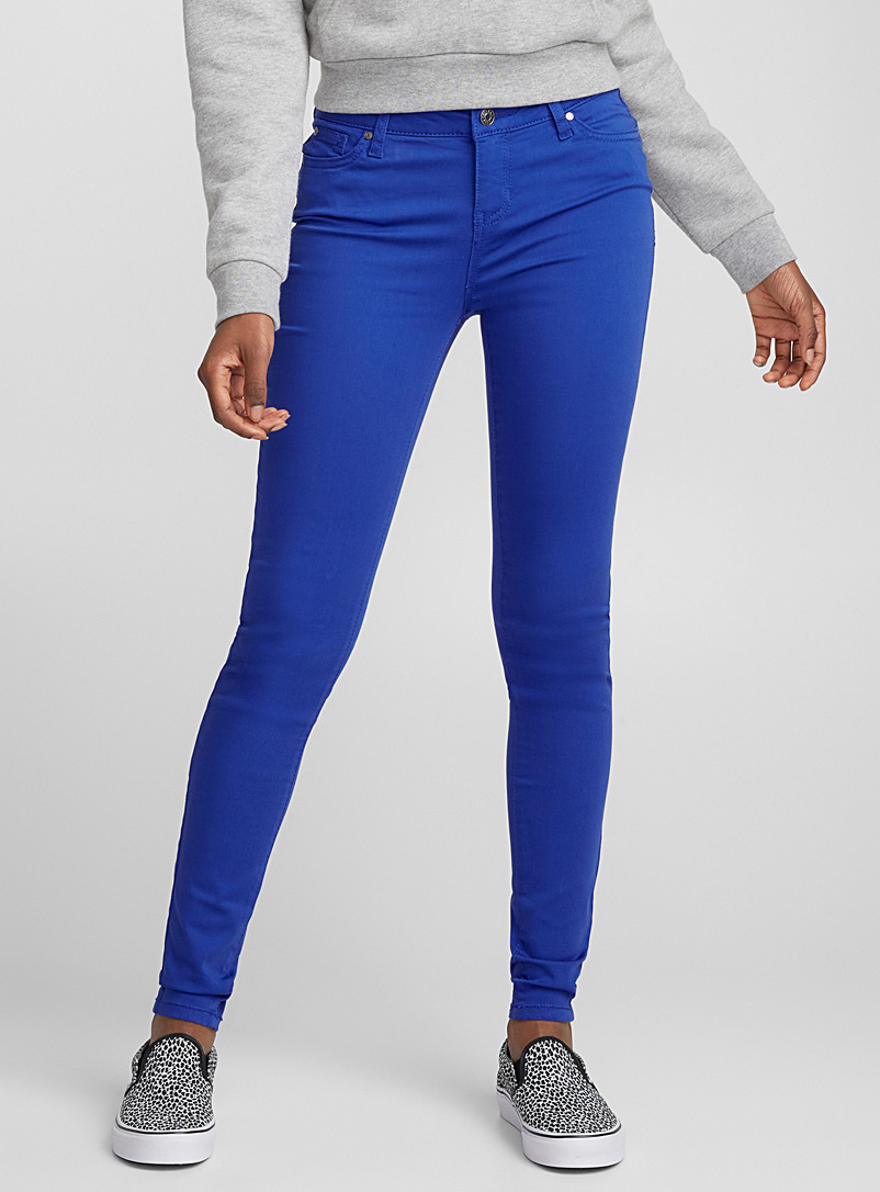 Extra stretch coloured jean - Skinny - Slate Blue