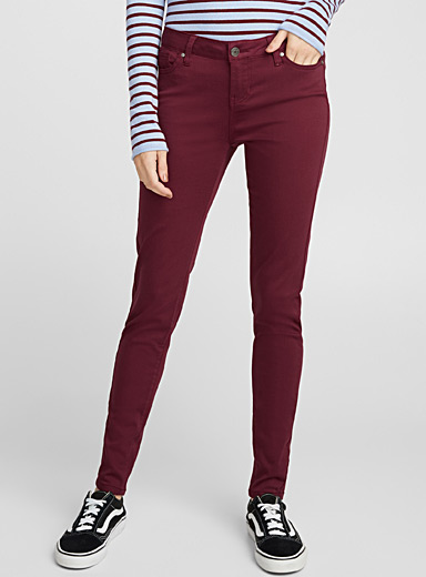 Extra stretch coloured jean