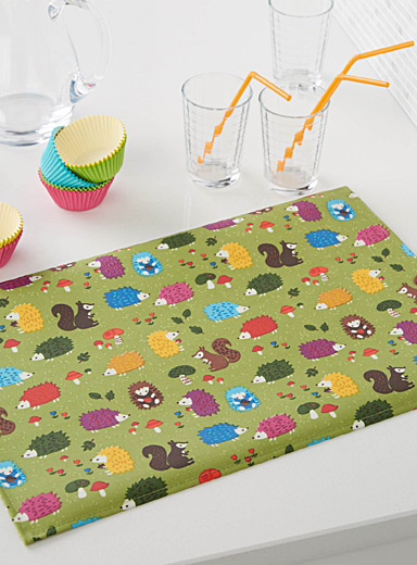 Forest friends coated place mat