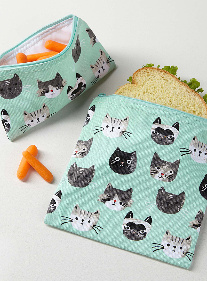 Danica Assorted Little kittens lunch bags  Set of 2