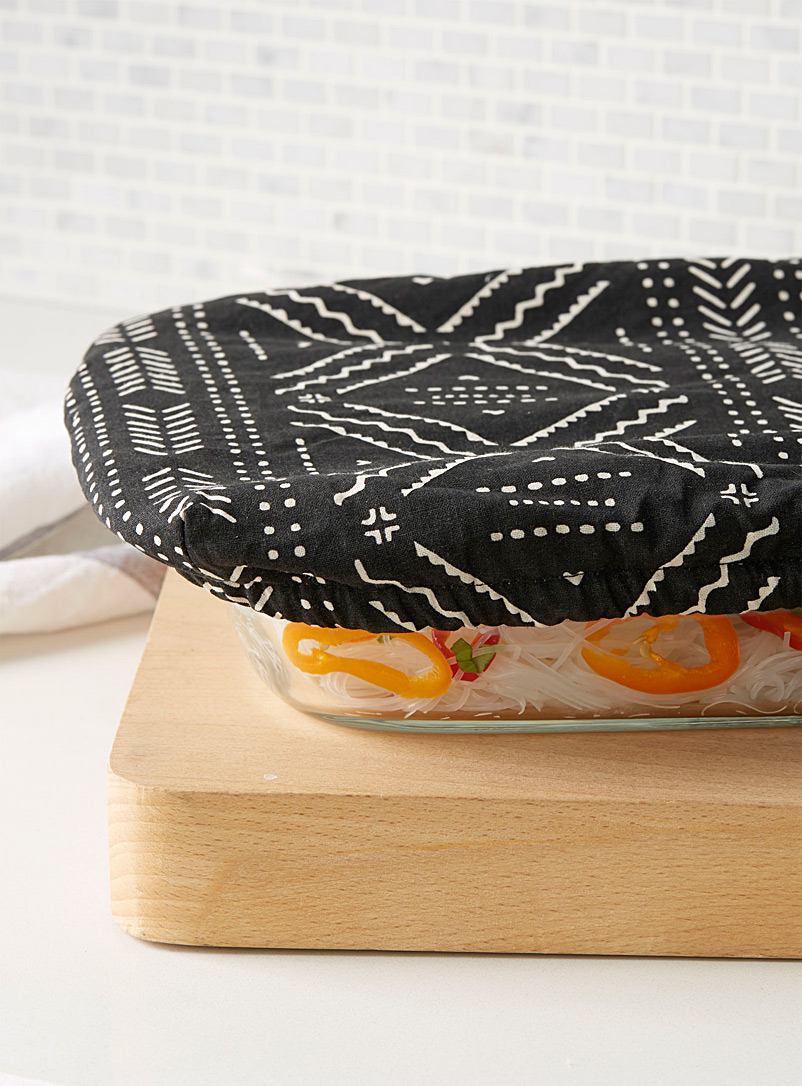 Danica Black and White Pictogram baking dish cover