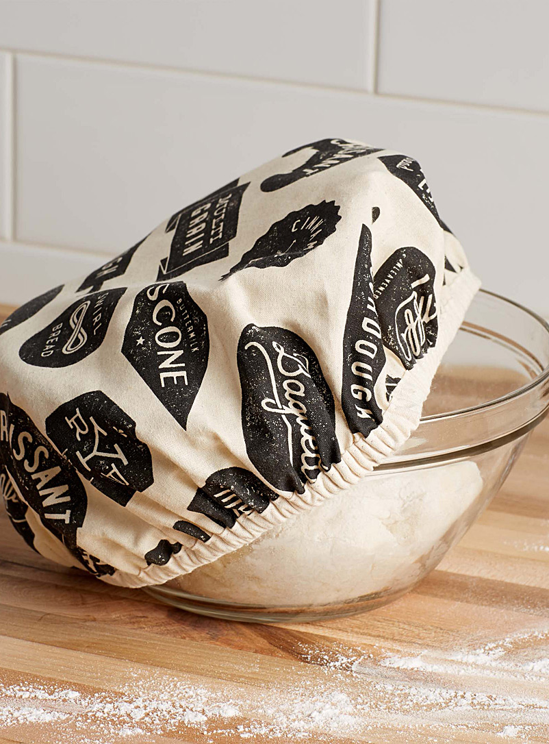 Dough riser cover - Useful & Chic Extras - Patterned Ecru