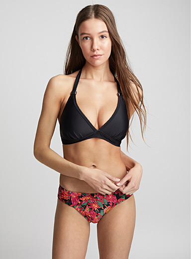 Black Oahu jewel triangle top <br>Full-busted
