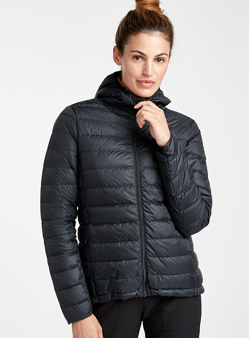 Emeline solid puffer jacket  Fitted style - Outdoor - Black