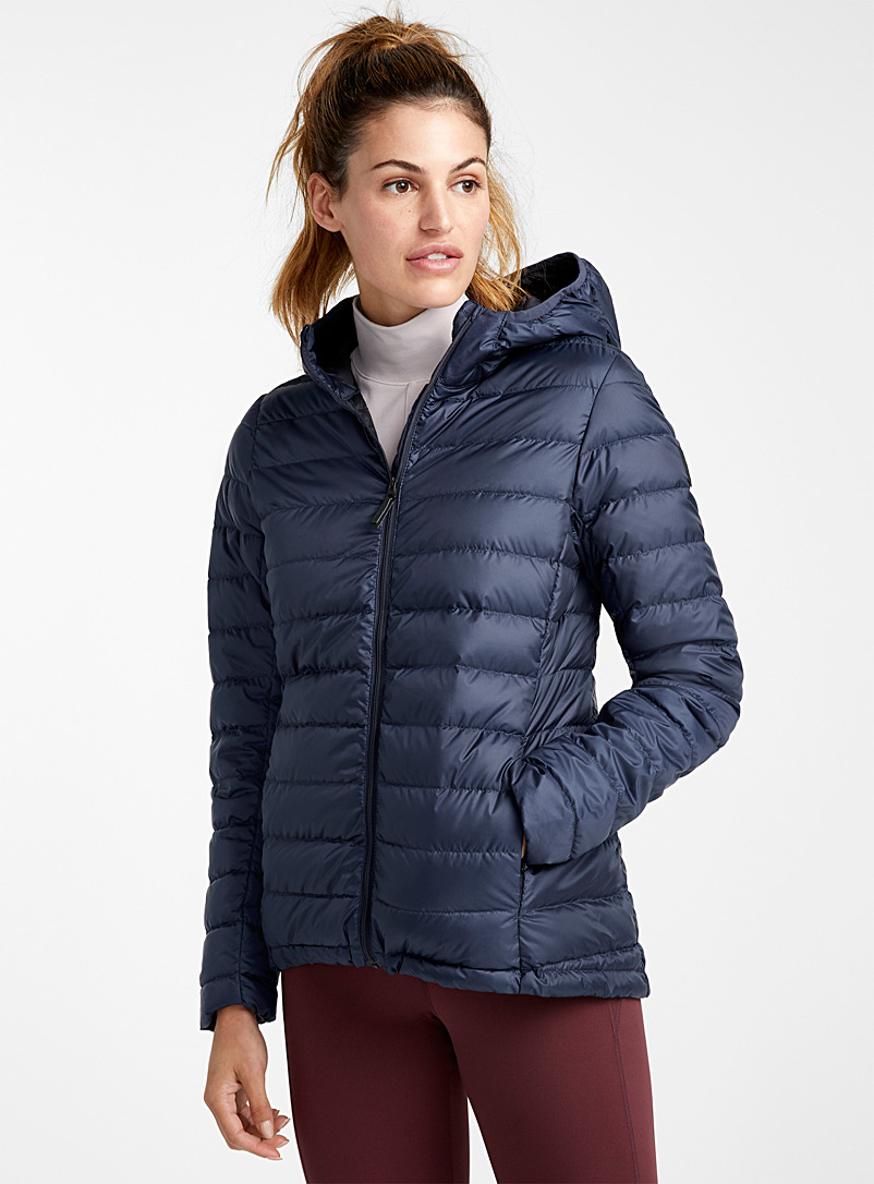 Lolë Marine Blue Emeline solid puffer jacket  Fitted style for women