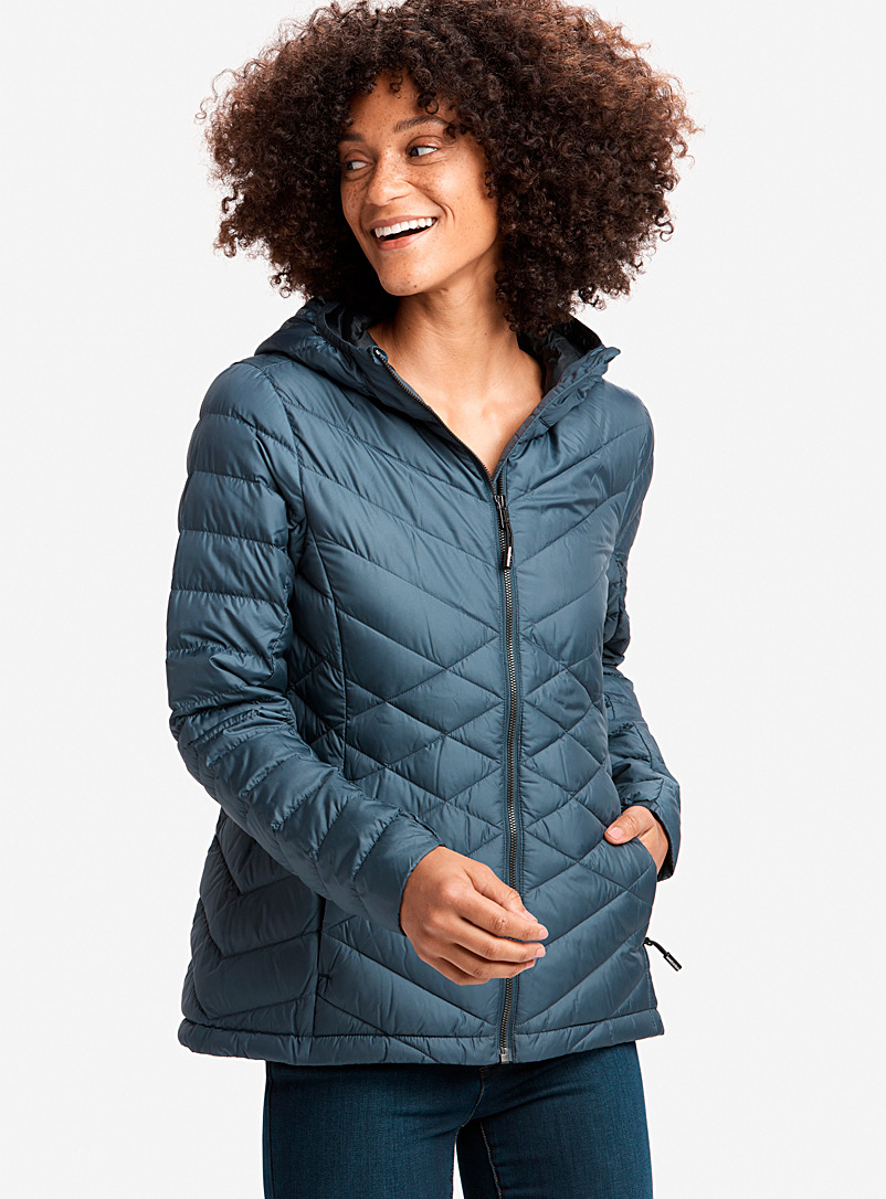 Lol? Dark Blue Emeline quilted jacket for women