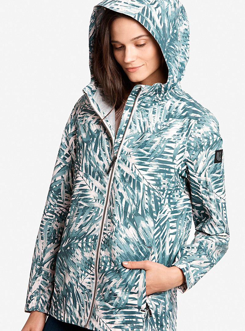Lol? Patterned Grey Lainey breathable raincoat for women