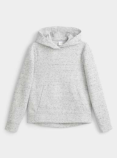 Lolë Patterned Grey Constance crossover-collar hoodie for women