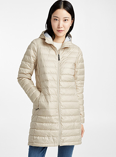 Claudia packable quilted coat