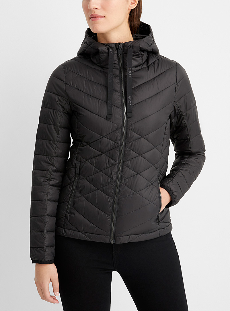 Lolë Black Emeline packable puffer jacket for women