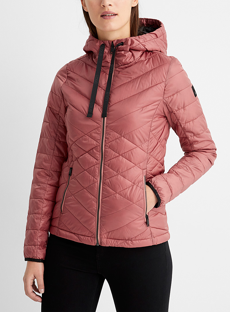 Lolë Pink Emeline packable puffer jacket for women