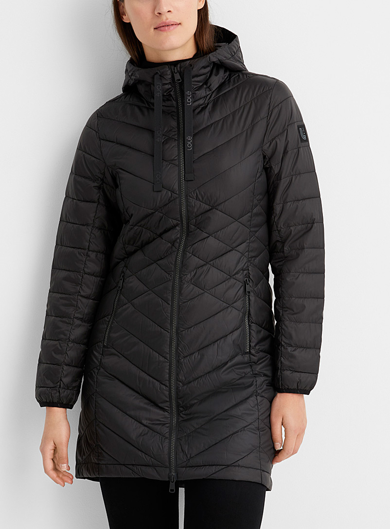 Lolë Black Claudia packable puffer jacket for women