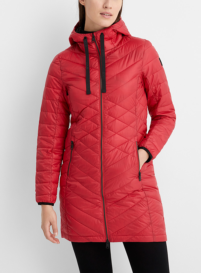 Lolë Red Claudia packable puffer jacket for women