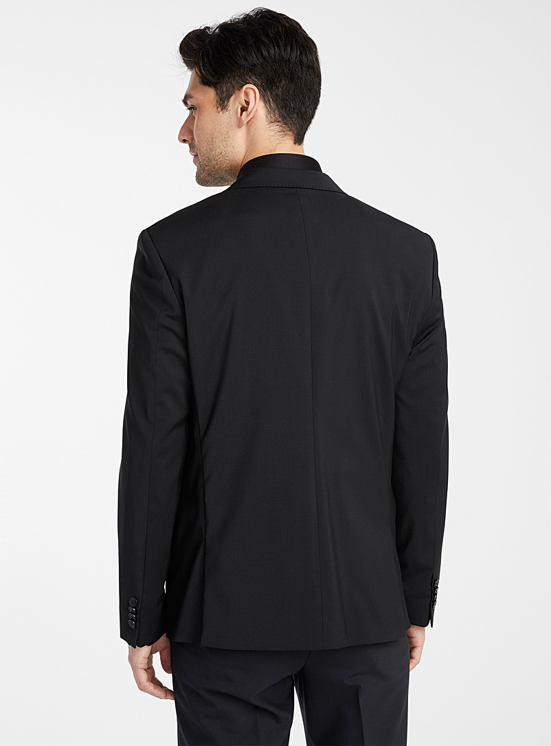 Le 31 Charcoal Stretch wool jacket  Stockholm fit-Slim for men
