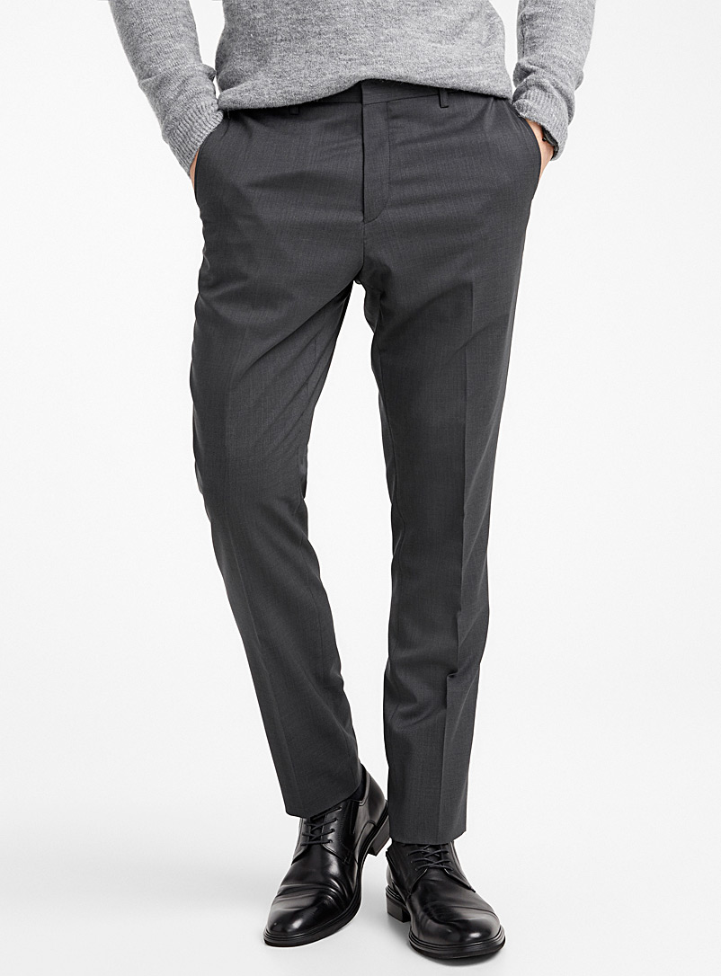 Le 31 Charcoal Stretch wool pant  Stockholm fit - Slim for men