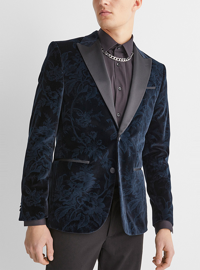 Le 31 Dark Blue Midnight garden tuxedo jacket  Stockholm fit - Slim for men