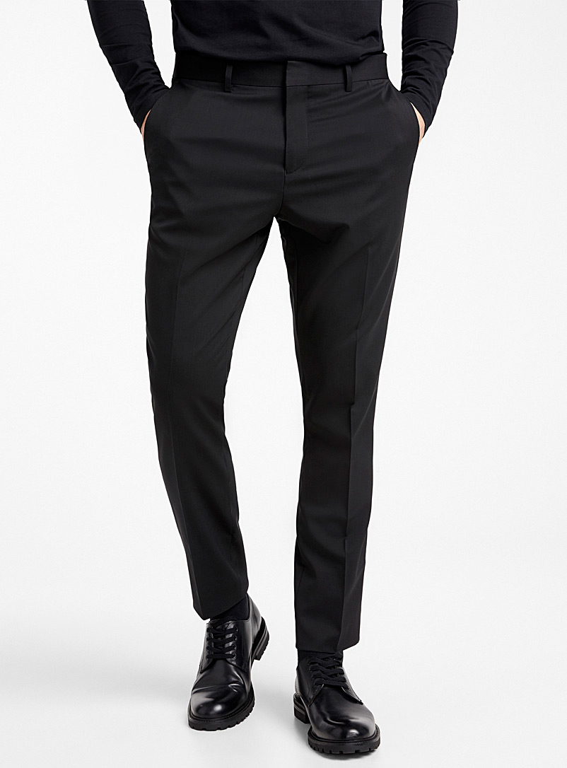 Italian Marzotto wool pant  Stockholm fit - Skinny   - Suit Separates - Black