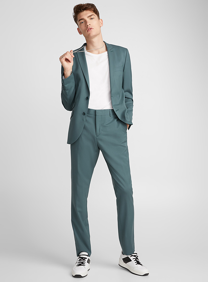 Italian Marzotto wool pant  Stockholm fit - Skinny   - Suit Separates - Kelly Green