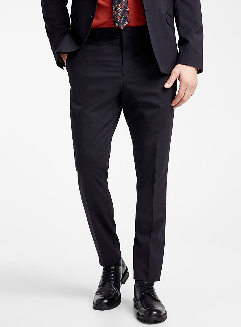 Italian Marzotto wool pant  Stockholm fit - Skinny   - Tailored - Marine Blue