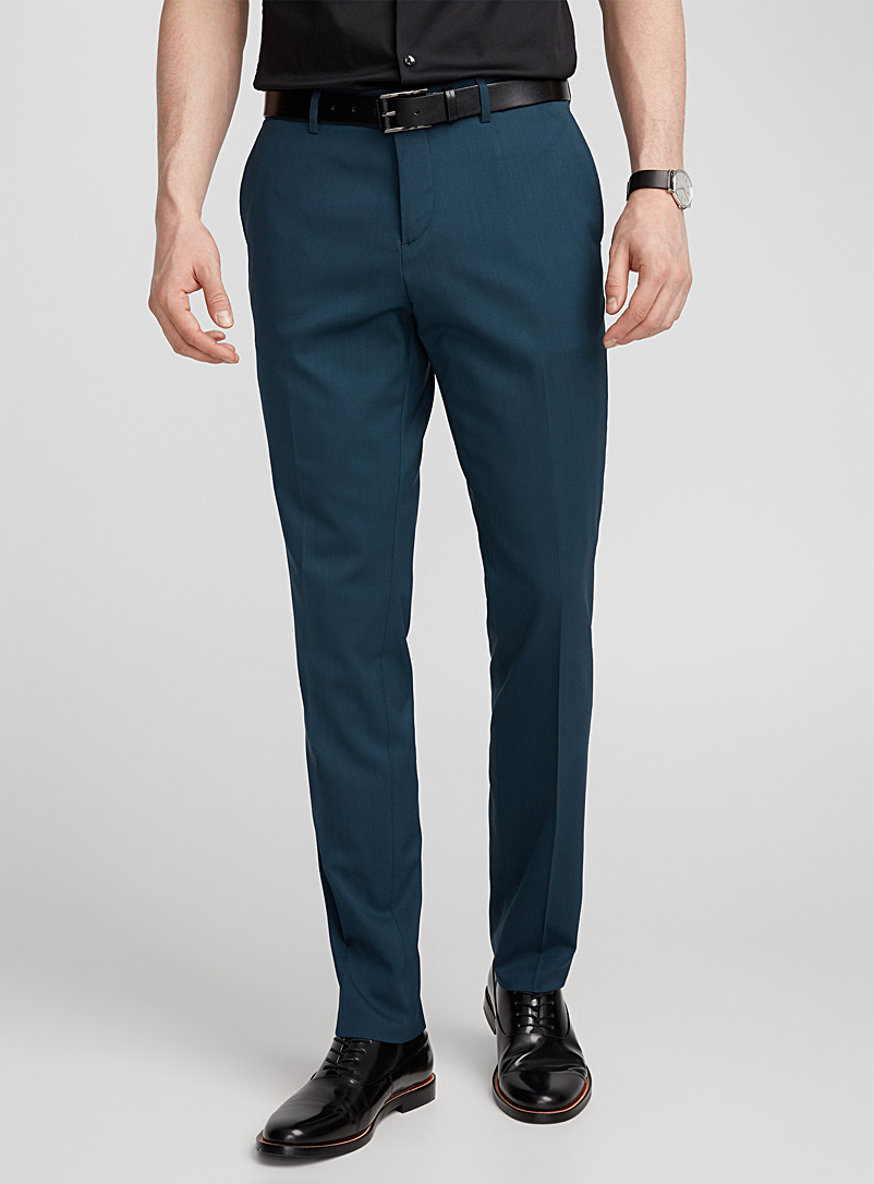 Italian Marzotto wool pant  Stockholm fit - Skinny   - Suit Separates - Teal